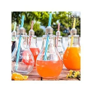 Casa & Ufficio Feste e Anniversari  BicchieriLampadinesetda4-Regalo Bicchieri Lampadine  set da 4