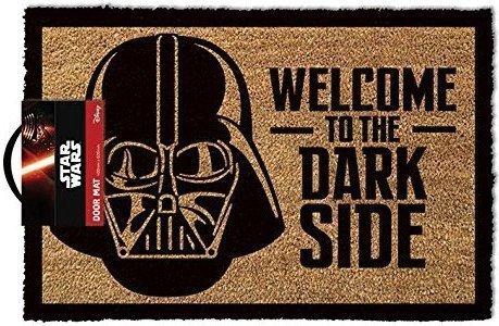 """Casa & Ufficio Gadget  LasgoStarWarsZerbinoWelcomeToTheDarksideLegno40-Regalo Zerbino Star Wars """"Welcome To The Darkside"""""""