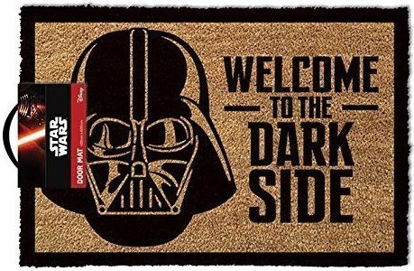 "Casa & Ufficio Gadget  LasgoStarWarsZerbinoWelcomeToTheDarksideLegno40-Regalo Zerbino Star Wars ""Welcome To The Darkside"""
