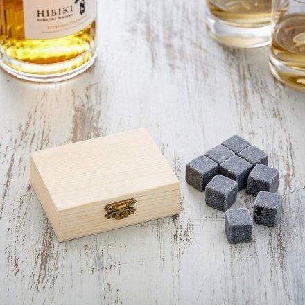 Casa & Ufficio Regali per uomo  PietredaWhiskyinEleganteScatolainLegno-Standard-Regalo Pietre da Whisky