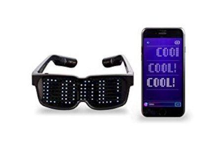 Gadget  CHEMION-OcchialiLEDBluetoothUnici–Messaggisuldisp-Regalo Occhiali a LED  CHEMION