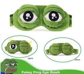 Maschera per dormire occhi di rana