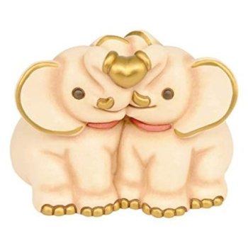 Feste e Anniversari Regali per Donna  THUN-CoppiaElefanti-Ceramica-h13cm-LineaICla-Regalo THUN  - Coppia Elefanti