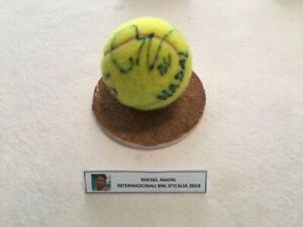 Oggetti Fantastici  PallaNadal-Regalo Palla da tennis autografata Rafael Nadal