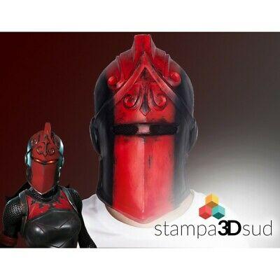 Fortnite / Red Knight mask Cosplay maschera in lattice CARNEVALE