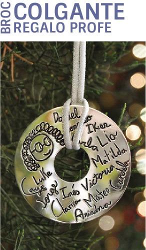 colgantes personalizados regalos para profesores plata mr broc