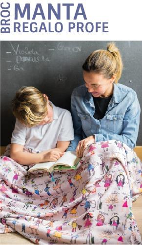 mantas personalizadas regalos para profesores dibujos mr broc