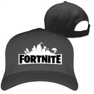 Gorra gris ajustable logo fortnite