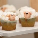 Cupcake de vainilla con masmelos
