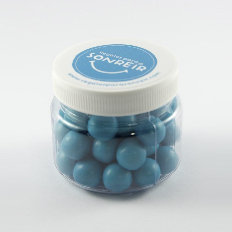 Pote chicles de colores azules - Sticker personalizable