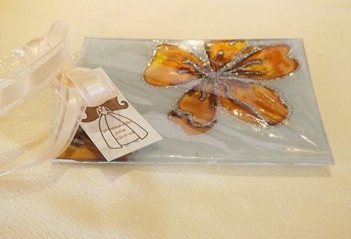 Bandejas de cristal, regalo original para comuniones, bautizos y bodas 1