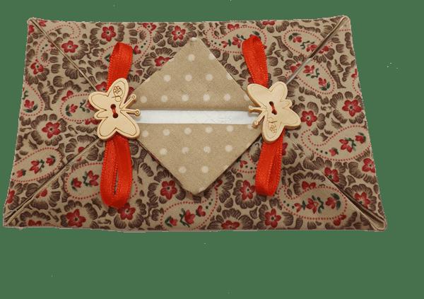 portapañuelos patchwork