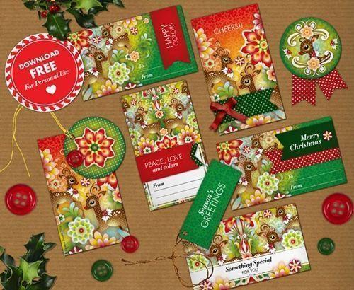 Cómo envolver regalos más bonitos con etiquetas de Navidad para imprimir 2