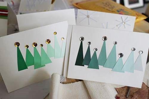 Crear tarjetas de Navidad hechas a mano 3