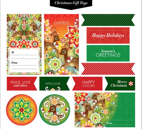 como envolver regalos más bonitos con etiquetas de Navidad para imprimir 1