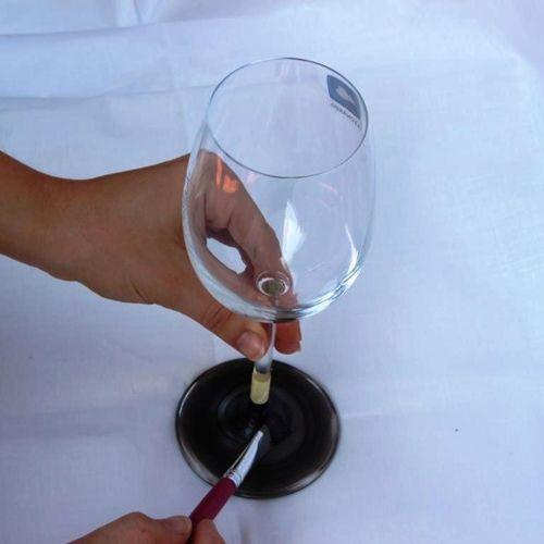 Copas de vino personalizadas con pintura de pizarra 4