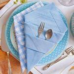 Doblar servilletas de tela con arte