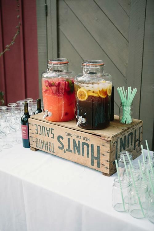 Dispensador de bebidas decorativo para bodas y fiestas 1