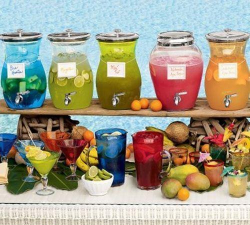 Dispensador de bebidas decorativo para bodas y fiestas 11