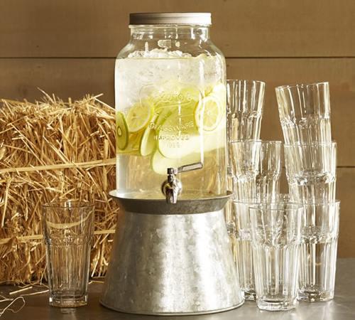 Dispensador de bebidas decorativo para bodas y fiestas 9