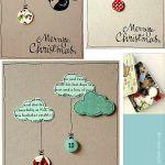 Tarjetas de Navidad hechas a mano para felicitar de forma original