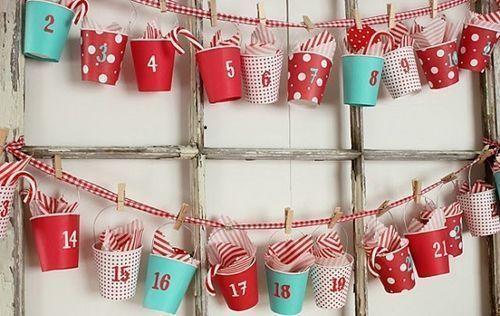 manualides de navidad muy faciles calendario de adviento 1