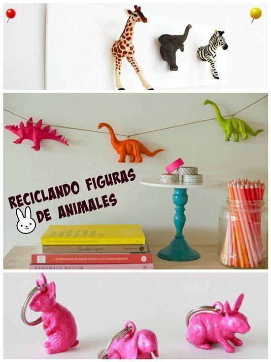 Manualidades de reciclaje con figuras de animales 7