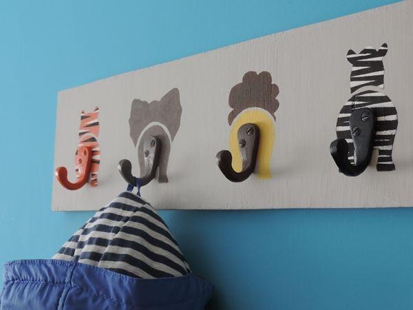 Percheros originales para ni os muy f ciles de hacer - Percheros de pared originales ...