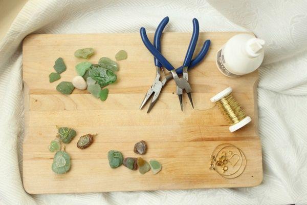 Regalos hechos a mano con vidrios marinos y alambre dulce 5