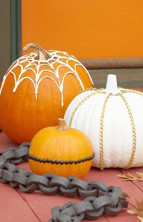 Manualidades Halloween decorar calabazas sin vaciar 2