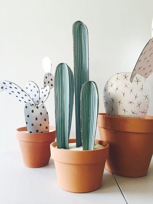 Manualidades para regalar unas divertidas macetas con - Cactus en macetas pequenas ...