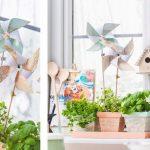 Molinillos de viento de papel DIY