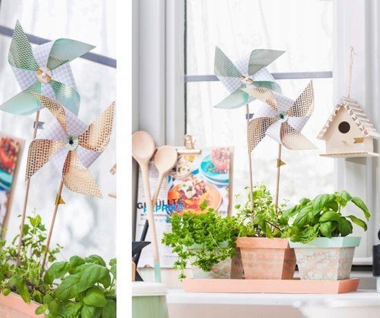 Molinillos de viento de papel DIY 1