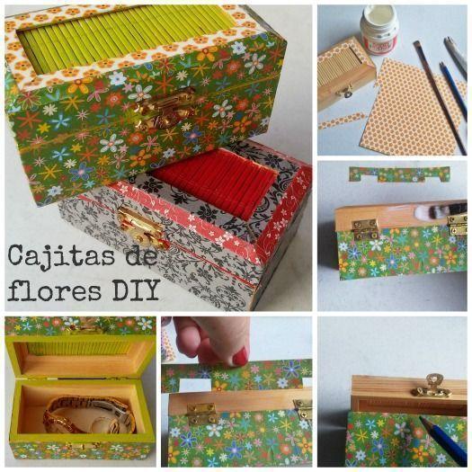 C mo decorar cajitas de madera diy con papel regalo y fiesta - Decorar cajas de madera con papel ...