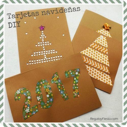 Nuevas tarjetas navide as hechas a mano regalo y fiesta - Postales navidenas para hacer ...
