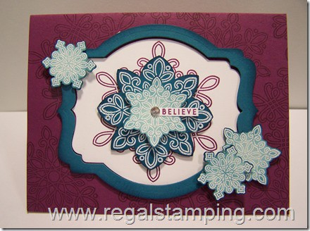 Stampin' Up, Flurry of Wishes card by Krista Thomas, www.regalstamping.com