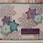 Flurry of Wishes Snowflakes Card