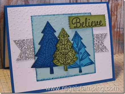 Lighthearted Leaves becoming Christmas Trees, Stampin' Up! Holiday 2015, by Krista Thomas, www.regalstamping.com