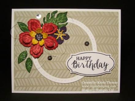 Exotic Botanical Builder Framelits, by Krista Thomas, www.regalstamping.com, Mix It Up Stamping Technique