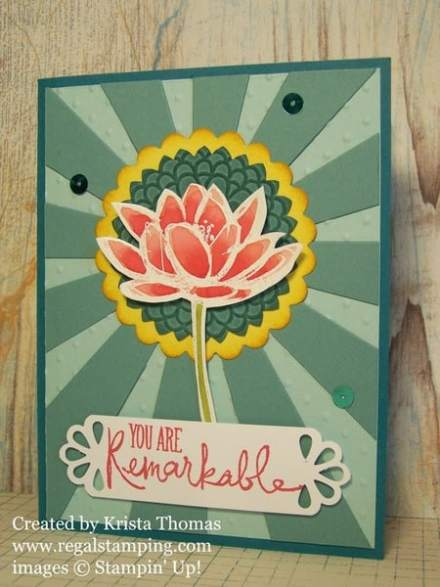 Remarkable You Sunburst, by Krista Thomas, all products by Stampin' Up!, www.regalstamping.com