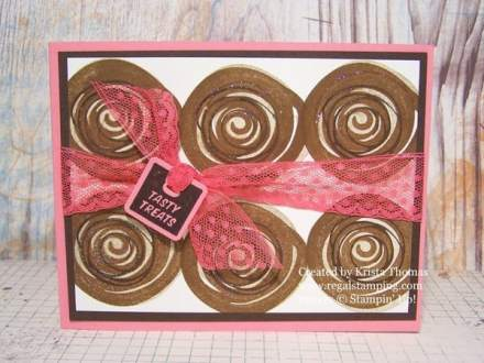 Stampin' Up! Swirly Bird Cinnamon Roll Card by Krista Thomas, www.regalstamping.com