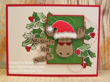 Jolly Friends and Holly Berry Happiness, www.regalstamping.com, by Krista Thomas, Stampin' Up! Holiday Catalog 2016-17