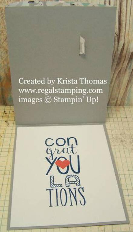 Inside Bendi card by Krista Thomas, www.regalstamping.com