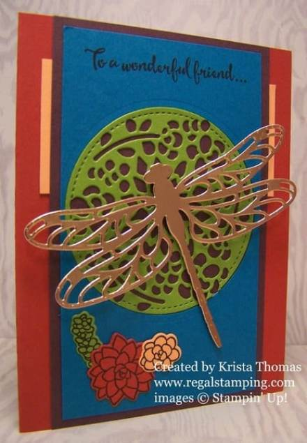 Dragonfly Dreams with Oh So Succulent and Window Box Thinlit Die, by Krista Thomas, www.regalstamping.com