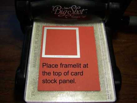 How to make a rectangle using a square framelit. Six Step Tutorial by Krista Thomas, www.regalstamping.com