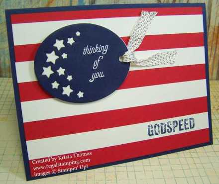 That's the Tag & Timeless Tags Thinlits Patriotic Card by Krista Thomas, www.regalstamping.com