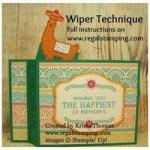Wiper Technique with Birthday Fiesta Llama