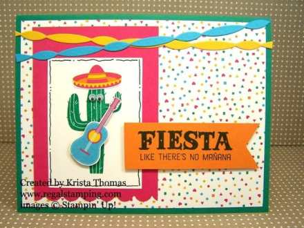Birthday Fiesta Cactus Dude for Clean & Simple