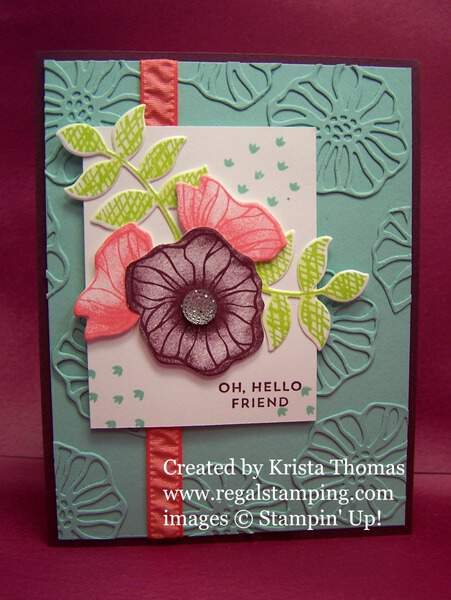 Oh So Eclectic floral diecut background, by Krista Thomas, www.regalstamping.com