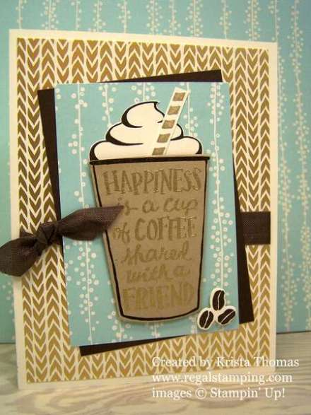 Coffee Cafe with Bundle of Love Designer Series Paper